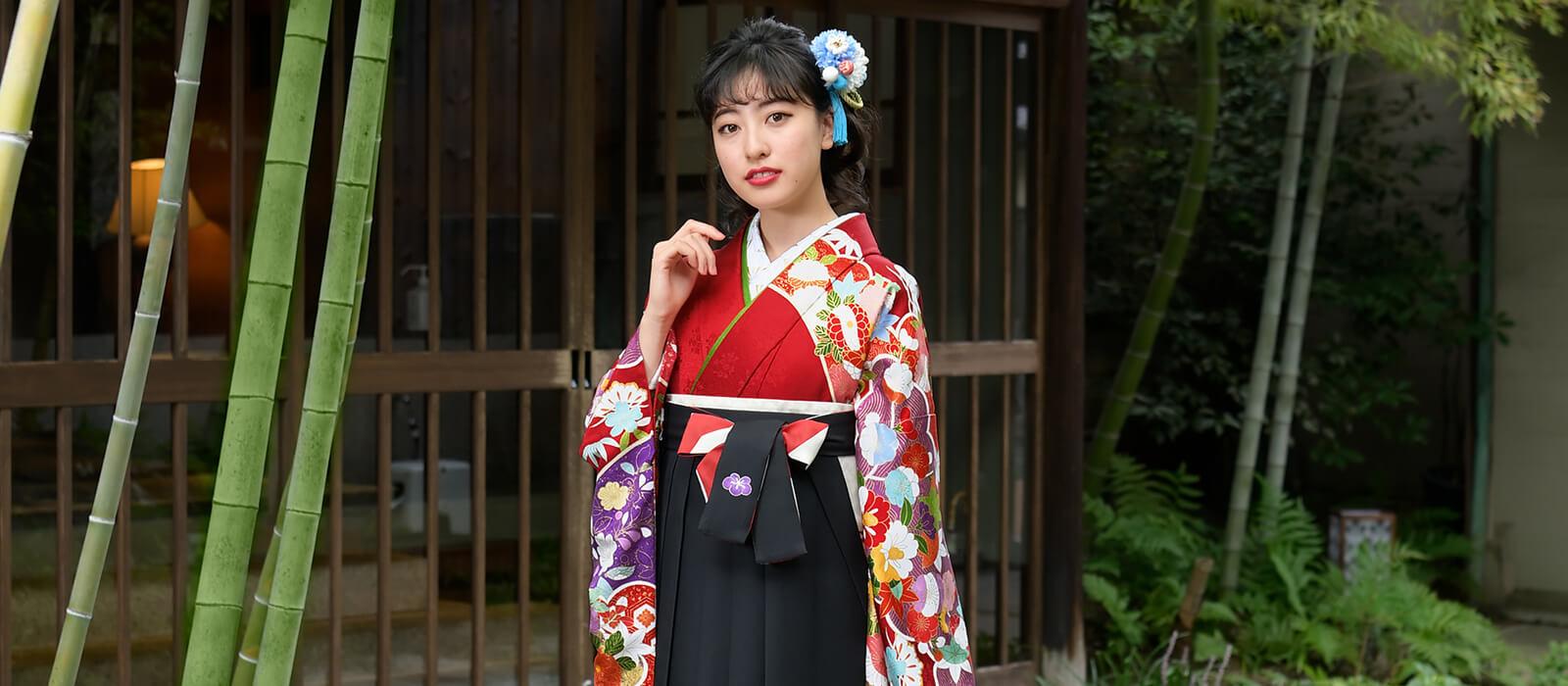 卒業式もわたしらしく 色の組み合わせで袴美人に