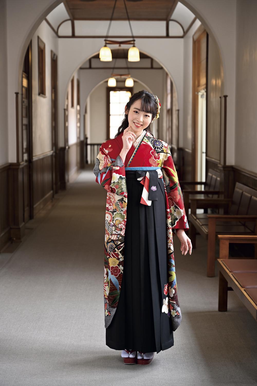 和とわの卒業袴 RED & NAVY